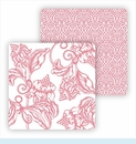 Paper Coasters - Pink Wood Cut Floral