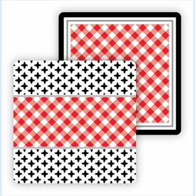 Paper Coasters - Red & Black - click to enlarge