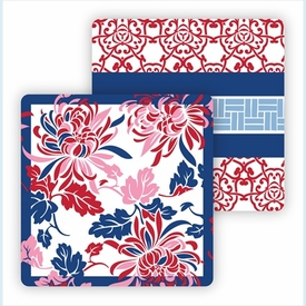 Paper Coasters - Red Oriental - click to enlarge