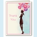 Party Balloon Girl Thank You Notes - click to enlarge