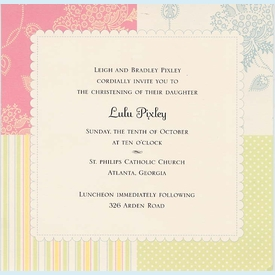 Pastel Lulu Square Invitation - click to enlarge