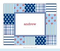 Patchwork Blue Folded Notes (set/25)