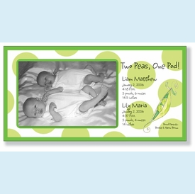 Pea Pod Twins Announcement - click to enlarge