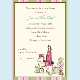 Perfecting Expecting Mom Invitation - click to enlarge