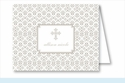 Pewter Cross Iron Scroll Pattern Note Cards