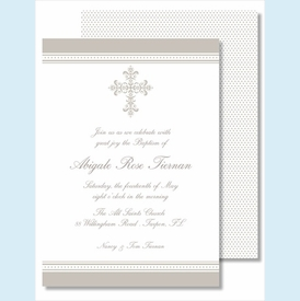 Pewter Cross Medium Flat Cards - click to enlarge
