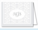 Pewter Elegant Note Cards