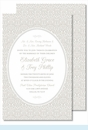 Pewter Ornate Floral Large Flat Invitation
