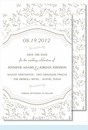 Pewter Sweet Pea Large Flat Invitation