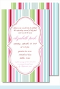 Pink/Blue/Green Stripes Large Flat Invitation