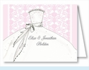 Pink Bride Note Cards