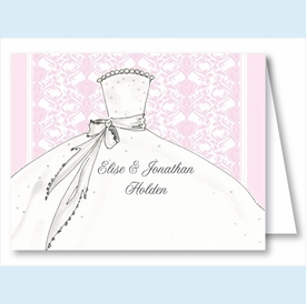 Pink Bride Note Cards - click to enlarge