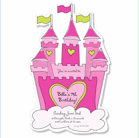 Pink Castle Diecut Invitation - click to enlarge