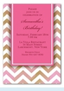 Pink Chevron Invitation
