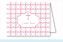 Pink Cross Tile Pattern Note Cards
