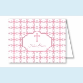 Pink Cross Tile Pattern Note Cards - click to enlarge