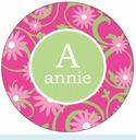 Pink Daisy Personalized Magnet