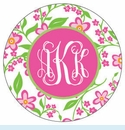 Pink Flower Personalized Magnet