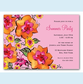 Pink Garden Invitation - click to enlarge
