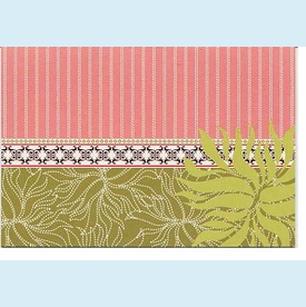 Pink & Green Organic Notes - click to enlarge