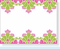 Pink & Green Stationery
