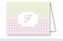 Pink/Green/Yellow Crazy Quilt Note Cards