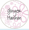 Pink Mod Flower Personalized Magnet