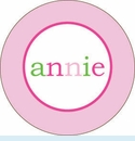 Pink Multi Circle Personalized Magnet