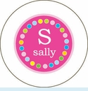 Pink Multi-Dot Personalized Magnet