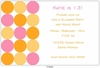 Pink & Orange Confetti Invitation