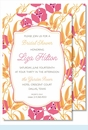 Pink/Orange Garden Large Flat Invitation