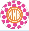 Pink/Orange Spot Personalized Magnet