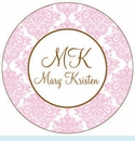 Pink Toile Personalized Magnet