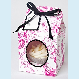 Pink Toile Small Cupcake Box - click to enlarge