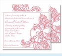 Pink Wood Cut Floral Small Flat Cards