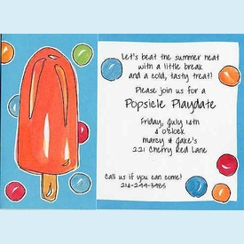 Popsicles Flip-Out Invitation - click to enlarge