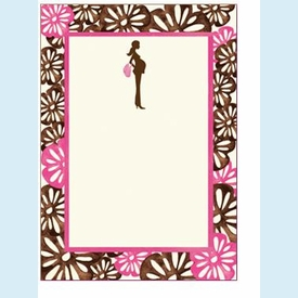 Pretty and Pregnant Floral Invitation - click to enlarge