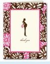 Pretty and Pregnant Floral Thank You Notes