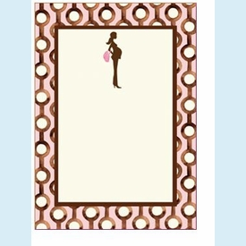 Pretty and Pregnant Pink Invitation - click to enlarge