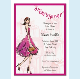 Pretty Pink Bridal Shower Invitation - click to enlarge