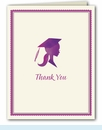 Pretty Purple Grad Thank You Notes