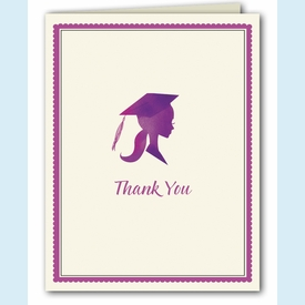 Pretty Purple Grad Thank You Notes - click to enlarge