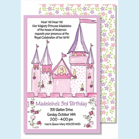 Princess Castle Large Flat Invitation - click to enlarge