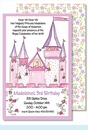Princess Castle Large Flat Invitation