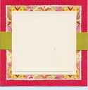 Princess Square Deckle with Ribbon Invitation