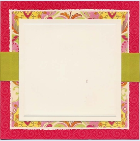 Princess Square Deckle with Ribbon Invitation - click to enlarge