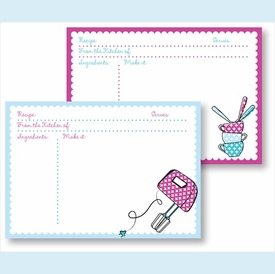 Recipe Box - Fuschia Mixer & Multi Cups & Spoons - click to enlarge