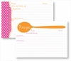 Recipe Box - Orange Spoon & Pink Dots