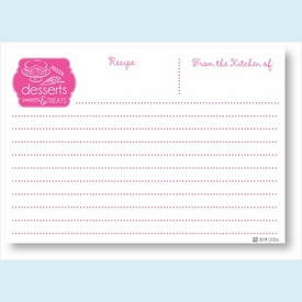 Recipe Cards - Desserts, Pink - click to enlarge