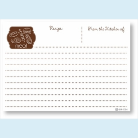 Recipe Cards - Meat, Brown - click to enlarge